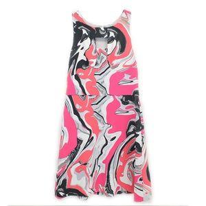 Anthropologie Yoana Baraschi Pink Swirl Dress